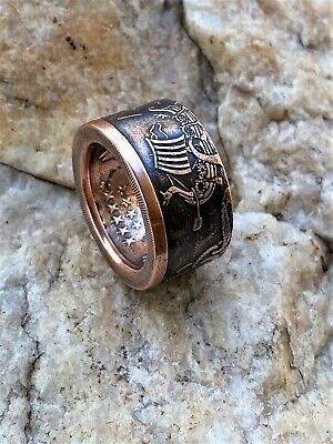 Norse, Viking, Kraken Handcrafted 1oz .999% copper Coin ring. Size 9-16
