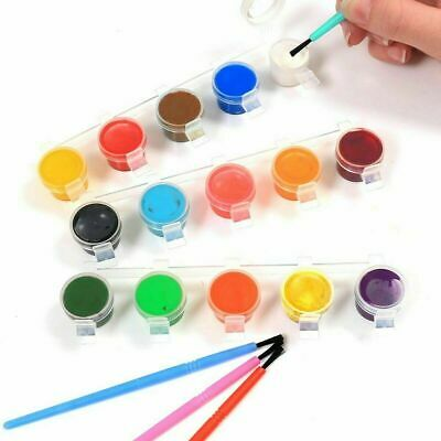 15 Poster Paints & 4 Brushes Set Paint Children's Art & Crafts Painting set