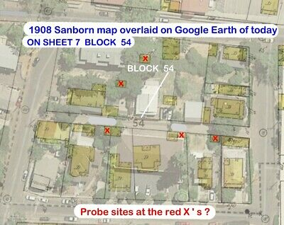 Sonora, California~Sanborn Map© sheet only # 7 in full color enhanced block 54