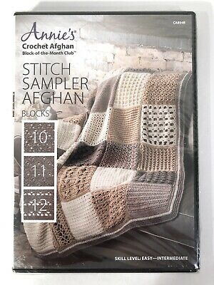 Quilt Afghan /& Pillow ~ 16 Quilt Sampler Blocks Annie/'s crochet pattern leaflet