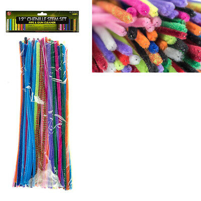 Apricot Jumbo Chenille Sticks Pipe Cleaners 12mm x 30cm Trimits Craft 15 Pc