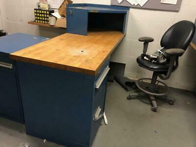 3 Work Benches / Maintenance Desks, Heavy Duty with Drawers