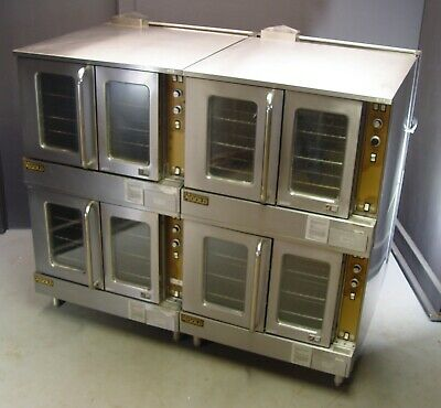 Two Southbend Marathoner Gold Natural Gas Double Stack Convection Ovens