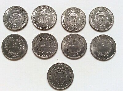 C11 Costa Rica 1976 Silver 5 Coin Proof Set