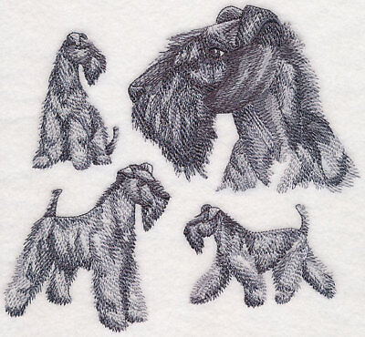 Kerry Blue Terrier Sketch Personalized Sweatshirt  Embroidered ALL SIZES