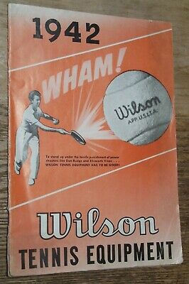 1942 Wilson Sporting Goods Company Tennis Equipment Catalog WWII Badminton