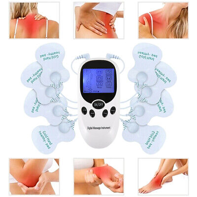 Tens Machine Unit Electrical Massager Pulse Muscle Stimulator Body Back Therapy