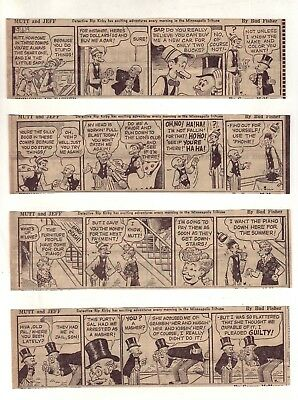 Mutt and Jeff by Bud Fisher - 27 daily comic strips - Complete March 1954
