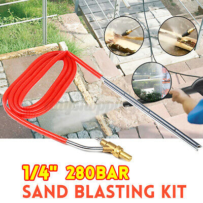 1/4'' Plug Pressure Washer Sand Blaster Paint Stripper  Hose Tube Cleaning Tool