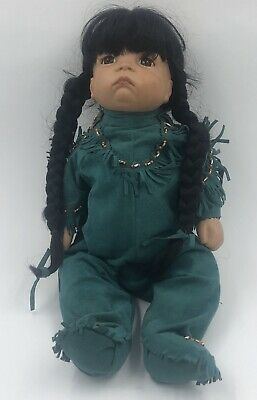 "Native American 18"" Indian Doll Porcelain"