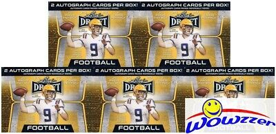 (5) 2020 Leaf Draft Football Factory Sealed 20 Pack Blaster Box-10 AUTOGRAPHS !
