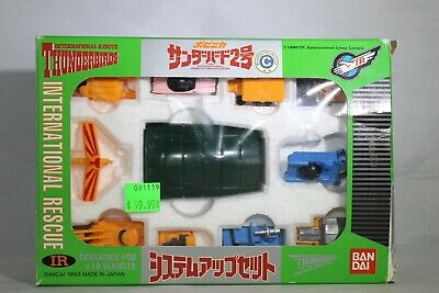 Bandai Thunderbirds International Rescue TB2 container pod + 10 vehicles