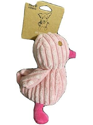 Pally Paws Pink Duck Squeaky Dog Toy