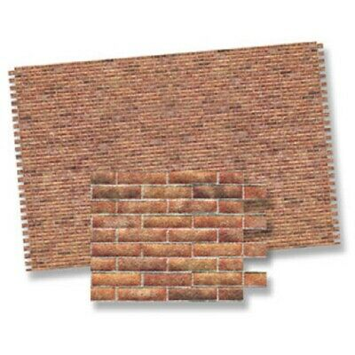Dollhouse Miniature Red Brick Wall Material - 1:12 Scale