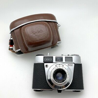 Vintage Kodak Retinette IB SLR Film Camera W/ Reomar 45mm f2.8 & Leather Case.