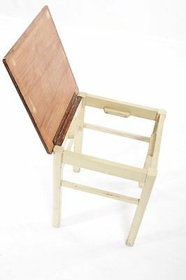 Old Wood Stool,Vintage Retro Design Iconic Chair,Wooden Stool Kitchen,with Flap