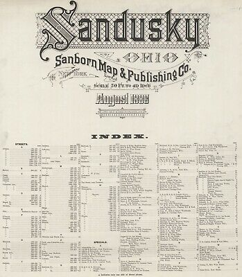 Sndusky, Ohio  Sanborn Maps made in 1886 with 29 maps in full color