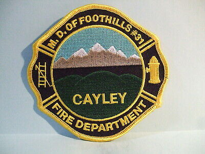 fire patch   MD OF FOOTHILLS #31 CAYLEY FIRE DEPARTMENT ALBERTA CANADA
