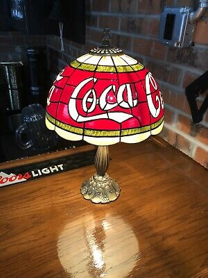 Coca Cola Desk Lamp with Plastic Staind Glass Look