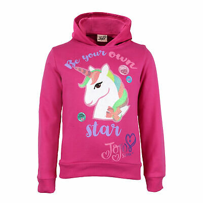 JoJo Siwa Be Your Own Star Unicorn Girls Pullover Hoodie | Official Merchandise