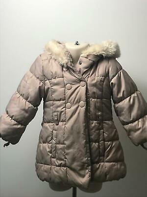 Girls Junior Jasper Conran Pink Hooded Padded Coat Jacket Kids Age 18-24 Months