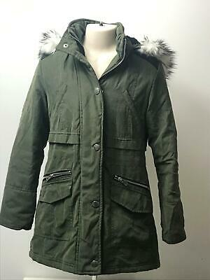 Girls New Look 915 Khaki Hooded Padded Parka Coat Jacket Kids Age 9 Years