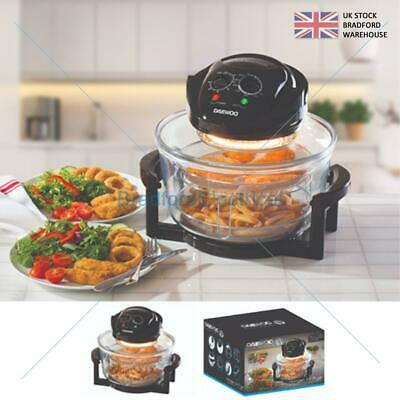 1300W DAEWOO Low Fat Air Fryer Oil Free Healthy Halogen Cooker Stainless 17L UK