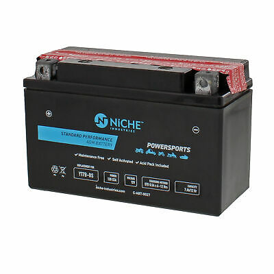 NICHE AGM Battery High Performance 2009-2017 Yamaha Zuma 125 Smax YT7B-BS