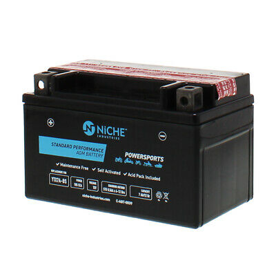 NICHE AGM Battery 2004-2016 E-Ton Kymco SYM Yamaha People Vino 125 YTX7A-BS