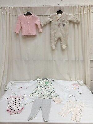Baby Girl Clothes Bundle Job Lot 0-3 Months Exc Con - Lot 1