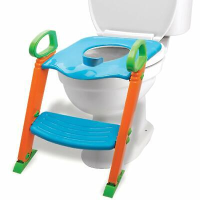 Potty Toilet Training Seat w/ Non-Slip Stepladder & Easy-Grip Handles (3-in-1)