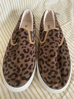 3 4 NWT Girls GAP KIDS Leopard Print Pantent Copper Black Ballet Flats11 2 12