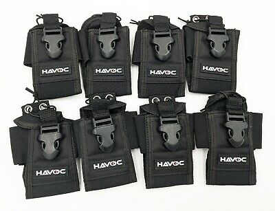 8-Pack Universal Handheld / Portable Two-Way Radio Holster / Holder / Pouch