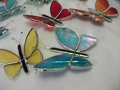 4 x butterfly's Stained Glass handmade sun-catcher's / window decoration's