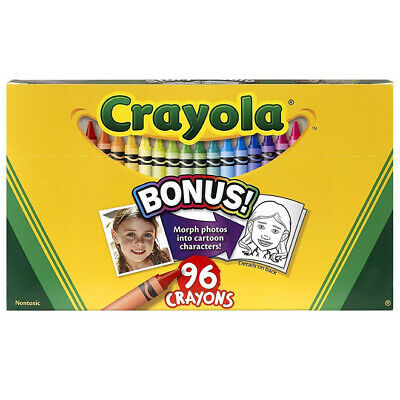 Crayola 96 Colours Crayon Set Colouring Drawing Painting Art