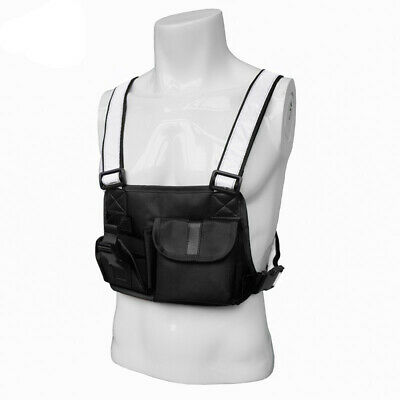 Tactical Harness Radio Chest Front Pack Bag Holster Vest Rig For Portable Radio