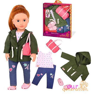 NEW OUR GENERATION DOLL LLAMA Print Deluxe Travel Accessory Set - American Girl