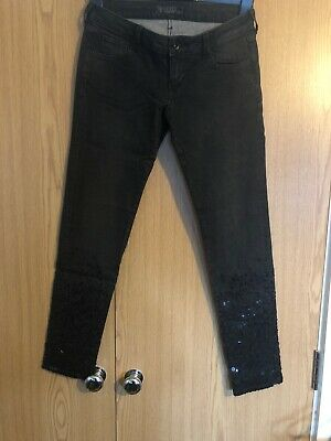 Guess Women/'s Beverly Ultra Low Skinny Jeans SHADOW LAND GREEN