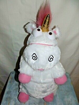 DESPICABLE ME Minions Unicorn Fluffy Plush Toy Backpack Bag Kids Girls