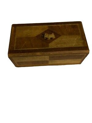 Victorian Carved Wood  Box Scottie Dogs  c1930s