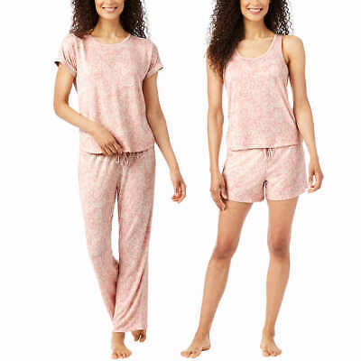 4piece Carole Hochman Woman Ladies Pajama Set Sleepwear Night Dress Bed Suit PJs
