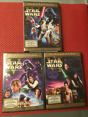 Star Wars Trilogy - US Limited Edition DVD Theatrical Versions THX RC1 RARE NEW