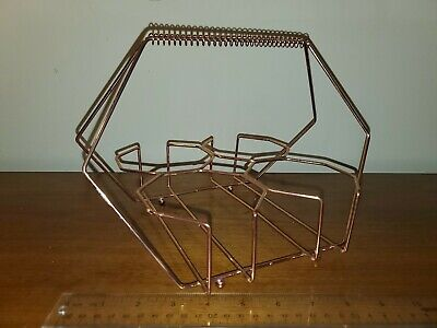 Retro 6 Copper Metal GlassTumbler Drink Caddy Holder Carrier