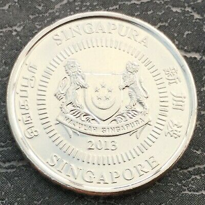 2013 50 Cents Coin Singapore Good Grade