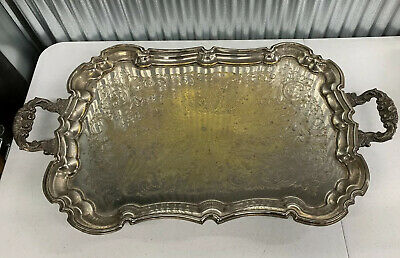 Vintage ~ Silver Plate ~ Serving Tray ~ Butlers ~ Bar ~ Antique ~ Tea Coffee