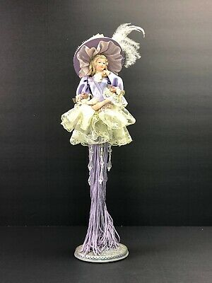 New 13 in Ice Princess Fairy Tassel Doll w//bling wht// silver// blue R2015 resin