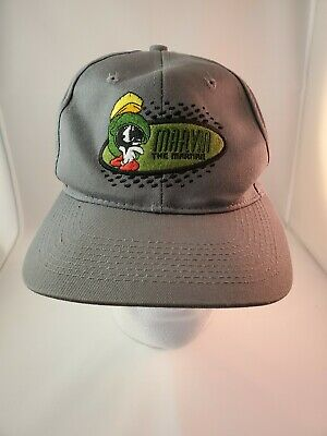 Vintage Marvin The Martian Grey Embroidered Hat Looney Tunes