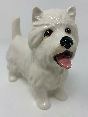 West Highland Terrier Mouth Open Dog Figurine Made In England Sylvac Beswick