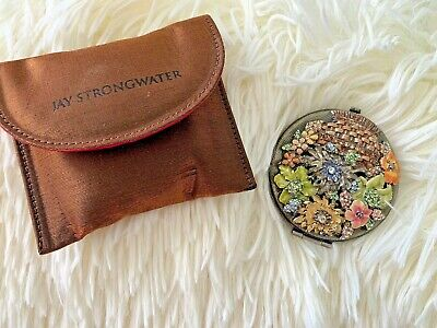 Jay Strongwater Double Mirror Compact - New