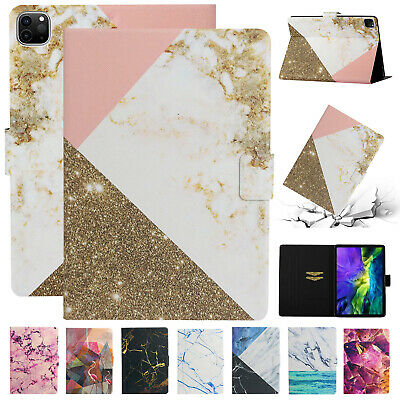 """For iPad Pro 11"""" 2020 Smart Case Marble Leather Flip Magnetic Stand Wallet Cover"""